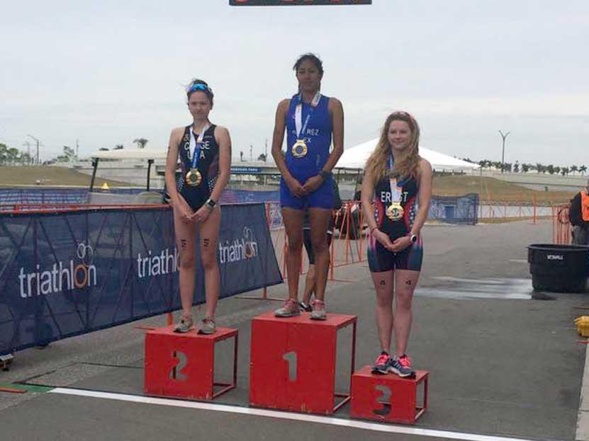 Cecilia Sayuri Ramírez Alavez gana primer lugar en 2018 Sarasota-Bradenton CAMTRI Sprint Triathlon American Cup and North American Championships.