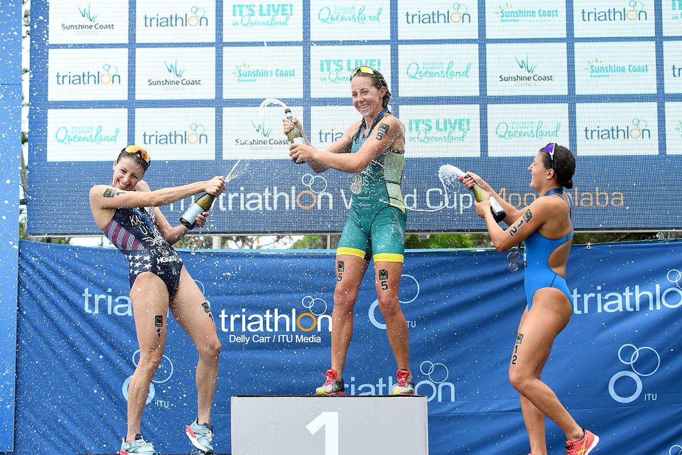 Emma Jeffcoat fue la vencedora en la Copa Mundial ITU Mooloolaba de 2018