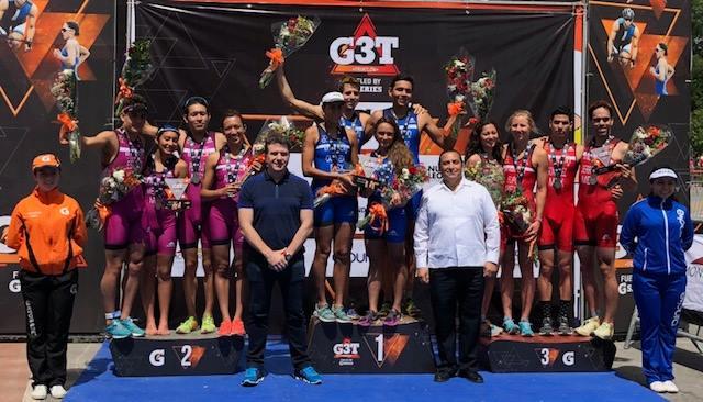 Un éxito la prueba de relevos mixtos en el Triatlón Monterrey.
