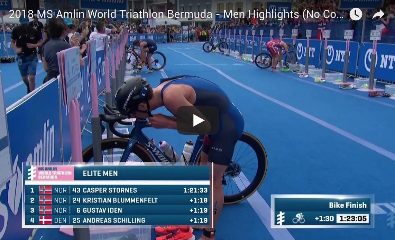 2018 MS Amlin World Triathlon Bermuda – Men Highlights