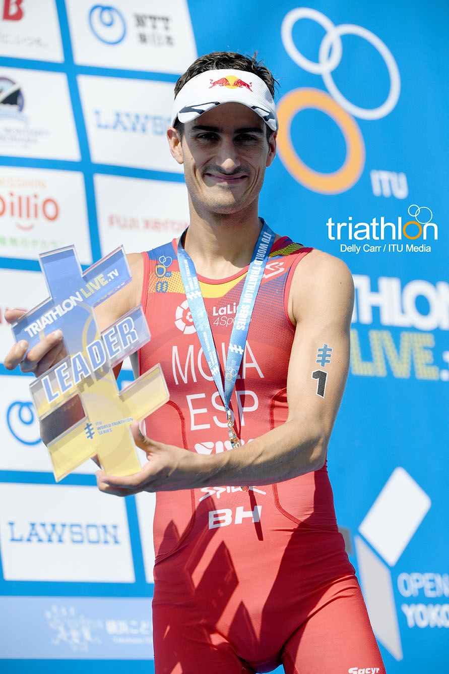 Mario Mola es el primer triatleta que gana 3 veces seguidas en Yokohama.