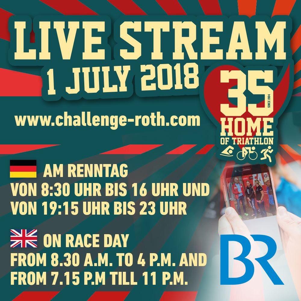 Transmisión en vivo Challenge Roth 2018