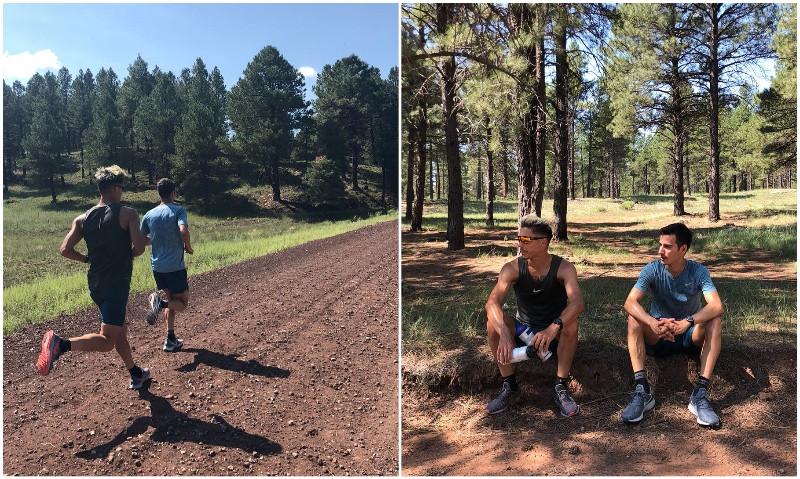 Mario Mola y Vincent Luis, 1 y 2 del mundo actualmente, entrenan juntos en Arizona.