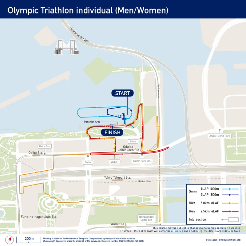 Circuitos del triatlón y paratriatlón de Tokio 2020 listos.