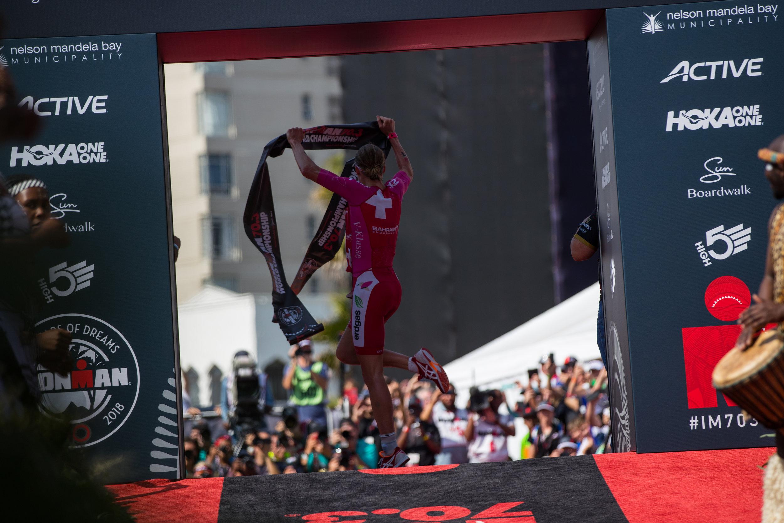 El relevo de ORO en Ironman 70.3