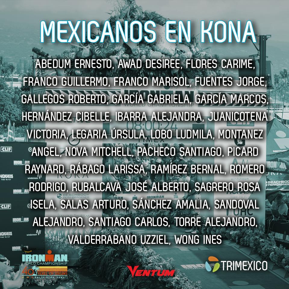 Listado completo de mexicanos en Ironman World Championship 2018