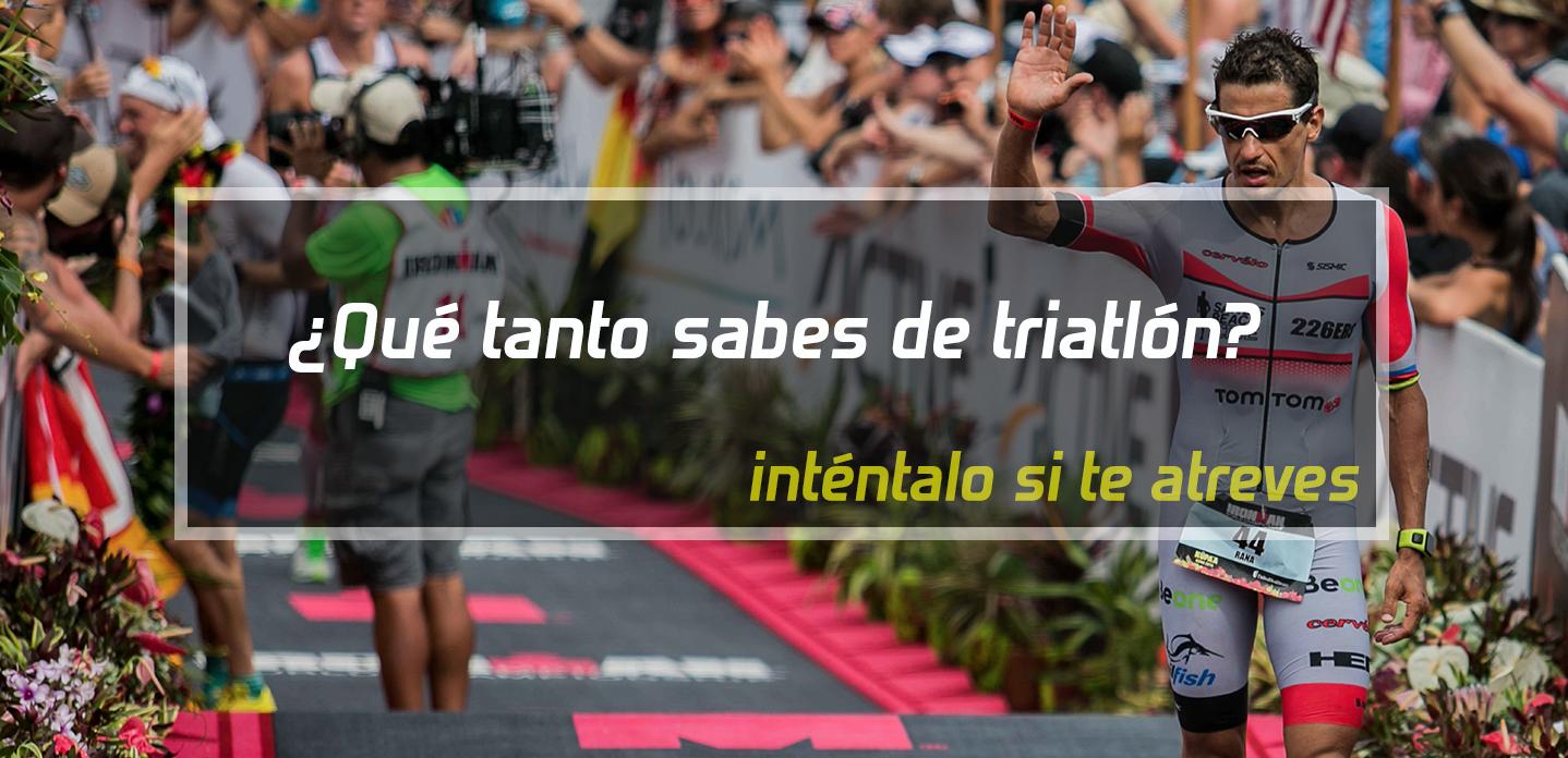 ¿Qué tanto sabes de triatlón?