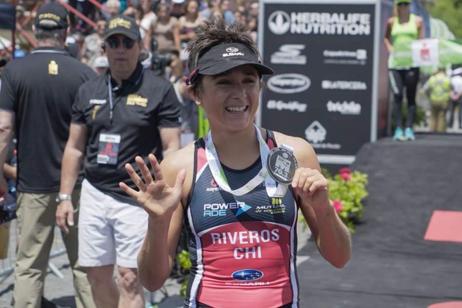 Bárbara Riveros logra pentacampeonato en IM 70.3 Pucón.
